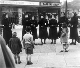 Photo:View of Salvation Army Singers in Church Street 1958