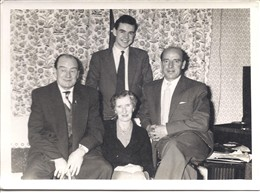 Photo:Photograph taken at my Farewell party in November 1957, Twenty years old. My Grand Father Kelly on the left Grand Mother Nora Harper center and my dad Bill Kelly on the right